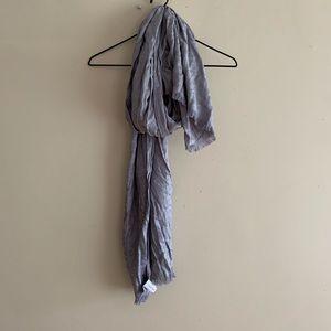 Calvin Klein Grey Silver Long Wrap Scarf